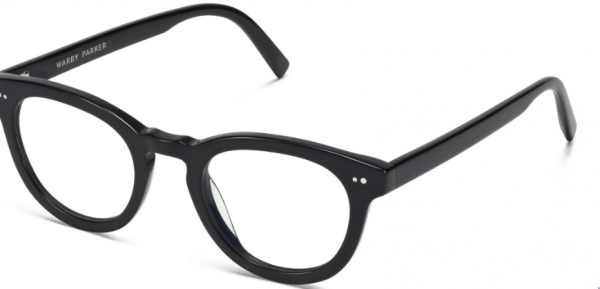 Angle View Image of Ainsley Eyeglasses Collection, by Warby Parker Brand, in Jet Black Color
