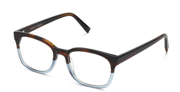 Angle View Image of Berman Eyeglasses Collection, by Warby Parker Brand, in Eastern Bluebird Fade Color