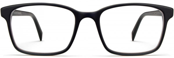 Front View Image of Brady Eyeglasses Collection, by Warby Parker Brand, in Black Matte Eclipse Color