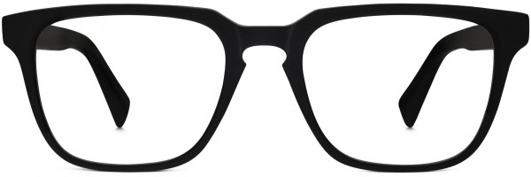 Front View Image of Burke Eyeglasses Collection, by Warby Parker Brand, in Black Matte Eclipse Color