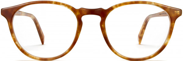 Front View Image of Butler Eyeglasses Collection, by Warby Parker Brand, in Butterscotch Tortoise Color