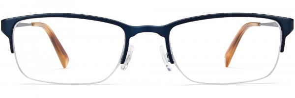 Front View Image of Caldwell Eyeglasses Collection, by Warby Parker Brand, in Brushed Navy Color