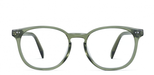 Front View Image of Carlton Eyeglasses Collection, by Warby Parker Brand, in Seaweed Crystal Color