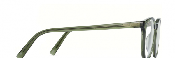 Side View Image of Carlton Eyeglasses Collection, by Warby Parker Brand, in Seaweed Crystal Color
