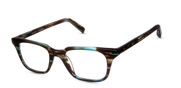 Angle View Image of Clark Eyeglasses Collection, by Warby Parker Brand, in Blue Marblewood Color