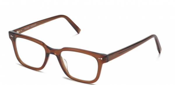 Angle View Image of Conley Eyeglasses Collection, by Warby Parker Brand, in Cacao Crystal Color