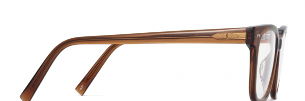 Side View Image of Conley Eyeglasses Collection, by Warby Parker Brand, in Cacao Crystal Color