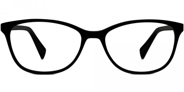 Front View Image of Daisy Eyeglasses Collection, by Warby Parker Brand, in Jet Black Color