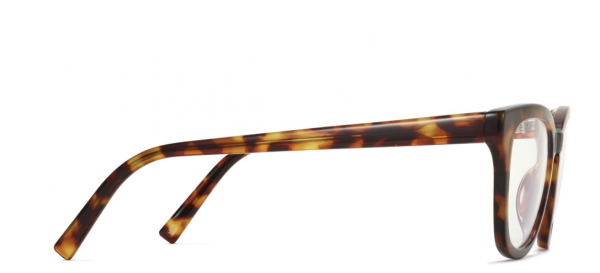 Side View Image of Della Eyeglasses Collection, by Warby Parker Brand, in Acorn Tortoise Color