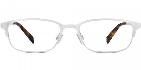 Front View Image of Graham Eyeglasses Collection, by Warby Parker Brand, in Polished Silver Color