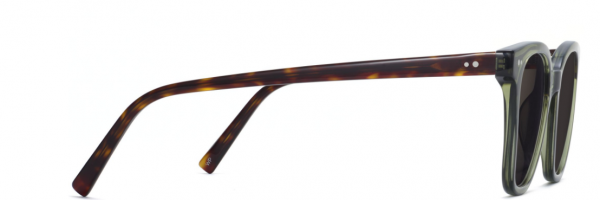 Side View Image of Griffin Sunglasses Collection, by Warby Parker Brand, in Seaweed Crystal with Cognac Tortoise Color