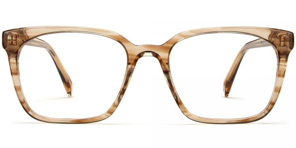 Front View Image of Hughes Eyeglasses Collection, by Warby Parker Brand, in Chestnut Crystal Color