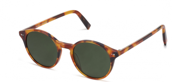 Angle View Image of Morgan Sunglasses Collection, by Warby Parker Brand, in Mesa Tortoise Color