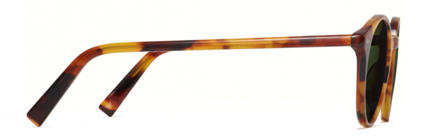 Side View Image of Morgan Sunglasses Collection, by Warby Parker Brand, in Mesa Tortoise Color