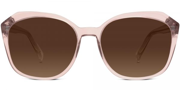 Front View Image of Nancy Sunglasses Collection, by Warby Parker Brand, in Rose Crystal Color