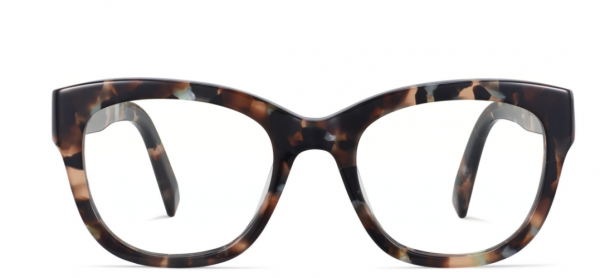 Front View Image of Tatum Eyeglasses Collection, by Warby Parker Brand, in Smoky Pearl Tortoise Color