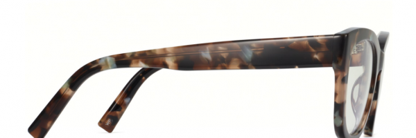 Side View Image of Tatum Eyeglasses Collection, by Warby Parker Brand, in Smoky Pearl Tortoise Color