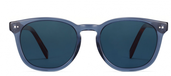 Front View Image of Toddy Sunglasses Collection, by Warby Parker Brand, in Azure Crystal with Oak Barrel Color