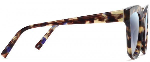 Side View Image of Ada Sunglasses Collection, by Warby Parker Brand, in Violet Mangolina Color