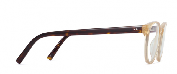 Side View Image of Whalen Eyeglasses Collection, by Warby Parker Brand, in Champagne with Cognac Tortoise Color