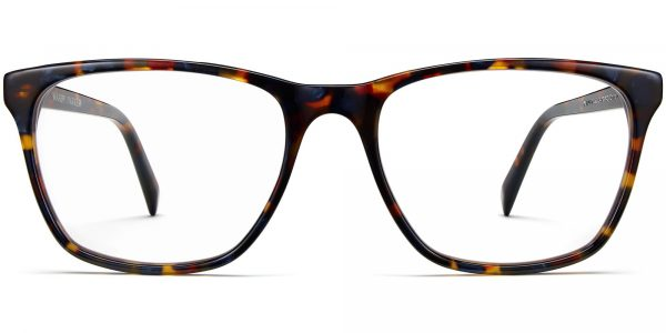 Front View Image of Yardley Eyeglasses Collection, by Warby Parker Brand, in Blue Marbled Tortoise Color