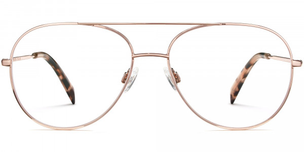 Front View Image of York Eyeglasses Collection, by Warby Parker Brand, in Rose Gold Color