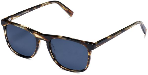 Angle View Image of Madox Sunglasses Collection, by Warby Parker Brand, in Striped Sassafras Color
