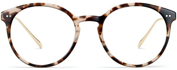 Front View Image of Langley Eyeglasses Collection, by Warby Parker Brand, in Opal Tortoise with Riesling Color