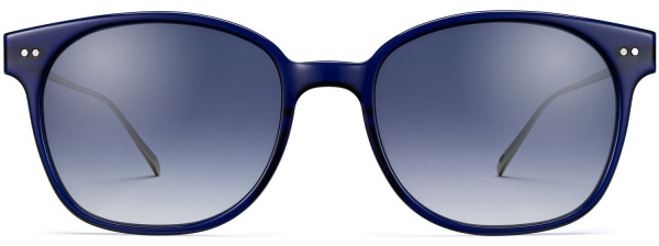 Front View Image of Tilden Sunglasses Collection, by Warby Parker Brand, in Lapis Crystal with Riesling Color