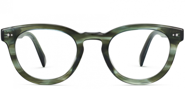 Front View Image of Ainsley Eyeglasses Collection, by Warby Parker Brand, in Striped Cypress Color
