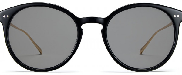 Front View Image of Langley Sunglasses Collection, by Warby Parker Brand, in Jet Black with Polished Gold Color