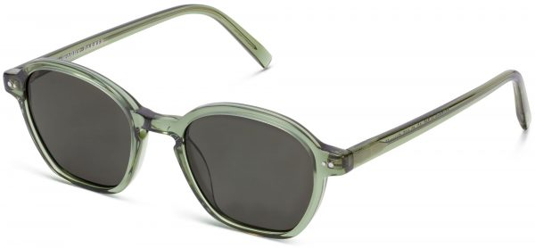 Angle View Image of Britten Sunglasses Collection, by Warby Parker Brand, in Rosemary Crystal Color