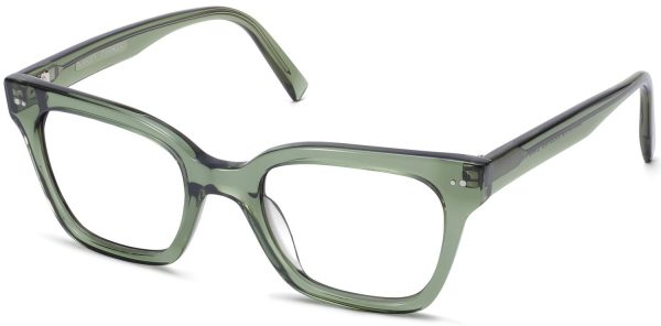 Angle View Image of Beale Eyeglasses Collection, by Warby Parker Brand, in Rosemary Crystal Color