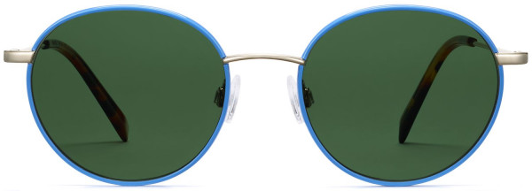 Front View Image of Duncan Sunglasses Collection, by Warby Parker Brand, in Scotia Blue with Riesling Color