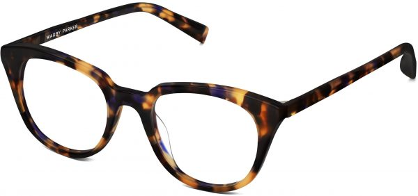 Angle View Image of Chelsea Eyeglasses Collection, by Warby Parker Brand, in Violet Magnolia Color