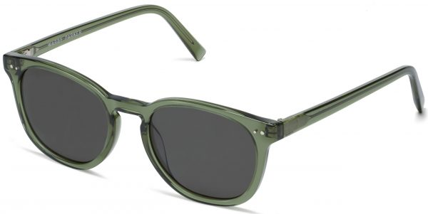 Angle View Image of Toddy Sunglasses Collection, by Warby Parker Brand, in Seaweed Crystal Color