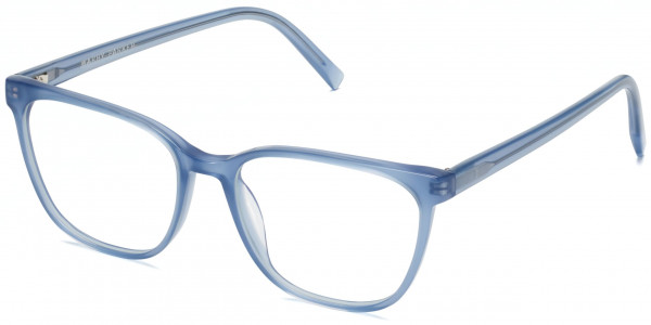 Angle View Image of Esme Eyeglasses Collection, by Warby Parker Brand, in Blue Thistle Color