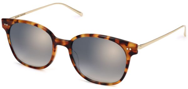 Angle View Image of Tilden Sunglasses Collection, by Warby Parker Brand, in Acorn Tortoise with Polished Gold Color