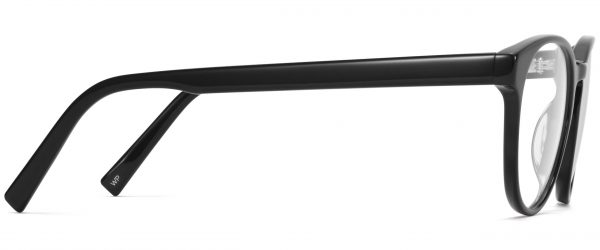 Side View Image of Whalen Eyeglasses Collection, by Warby Parker Brand, in Jet Black Color
