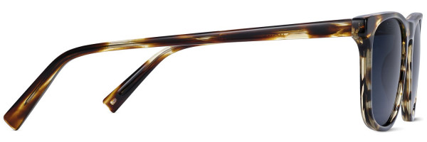 Side View Image of Madox Sunglasses Collection, by Warby Parker Brand, in Striped Sassafras Color