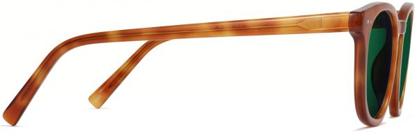 Side View Image of Toddy Sunglasses Collection, by Warby Parker Brand, in Sequoia Tortoise Color