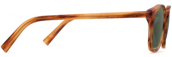 Side View Image of Downing Sunglasses Collection, by Warby Parker Brand, in English Oak Color