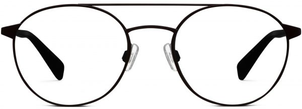 Front View Image of Fisher Eyeglasses Collection, by Warby Parker Brand, in Brushed Ink Color