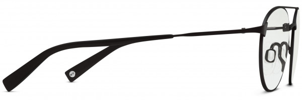 Side View Image of Fisher Eyeglasses Collection, by Warby Parker Brand, in Brushed Ink Color