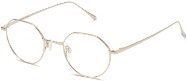 Angle View Image of Gavin Eyeglasses Collection, by Warby Parker Brand, in Polished Gold Color