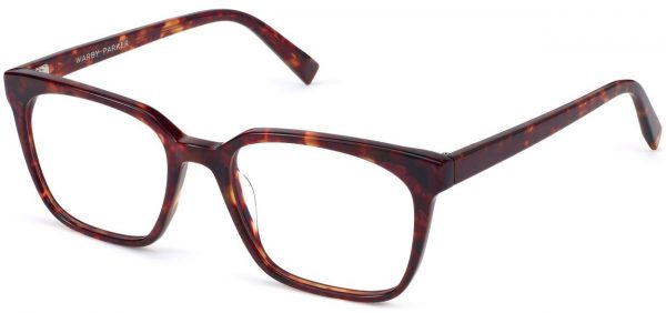Angle View Image of Hughes Eyeglasses Collection, by Warby Parker Brand, in Fig Tortoise Color