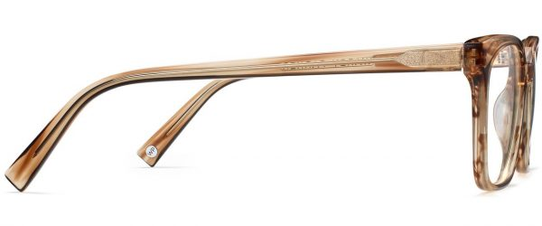 Side View Image of Hughes Eyeglasses Collection, by Warby Parker Brand, in Chestnut Crystal Color