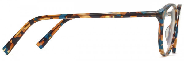 Side View Image of Butler Eyeglasses Collection, by Warby Parker Brand, in Teal Tortoise Color