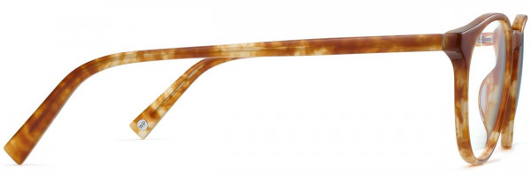 Side View Image of Butler Eyeglasses Collection, by Warby Parker Brand, in Butterscotch Tortoise Color