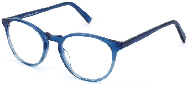 Angle View Image of Butler Eyeglasses Collection, by Warby Parker Brand, in Shoreline Fade Color